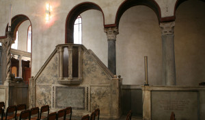 image of the ambo of Santa Maria in Cosmedin - Architecture for liturgy
