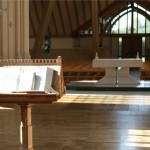 Douay Abbey illustrates the place for the word and for the eucharist